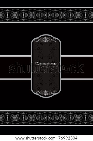 vector silver ornate greeting card