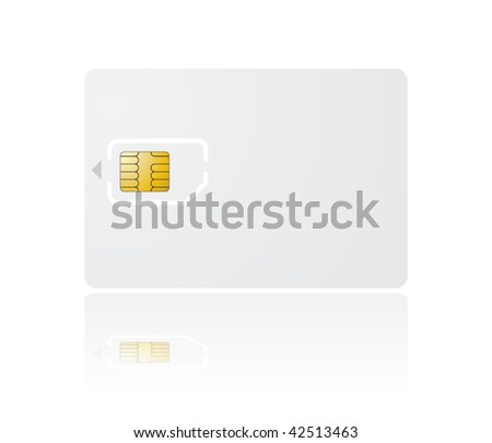vector sim card with holder - stock vector