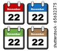vector simple calendars - stock vector