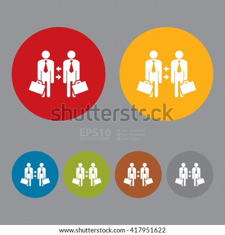 Vector : Simple Circle Staff Turnover, Switch Staff Change Management Infographics Flat Icon, Sign  - stock vector