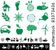 vector simple ecology signs - stock vector
