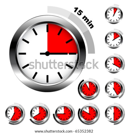 Vector simple timers - stock vector