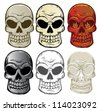 Vector Skull Collection - stock vector