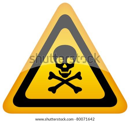 Vector skull danger sign, eps10 - stock vector