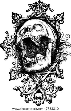 Vector skull 7 illustration - stock vector