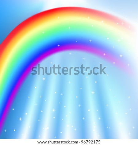 Vector Sky with Rainbow