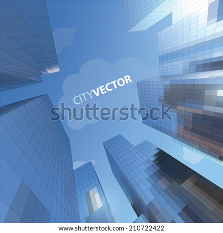 VECTOR SKYSCRAPER - stock vector