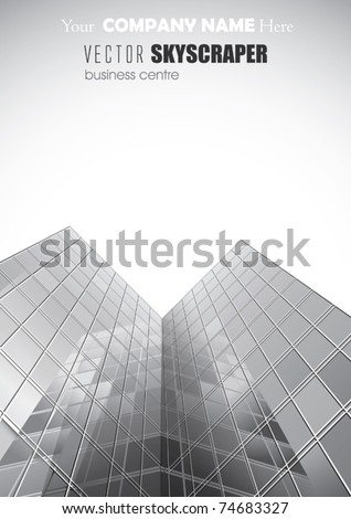 VECTOR  Skyscrapers For Your Business Poster. - stock vector