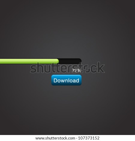 Vector Slider Scroll Download Progress Bar - stock vector