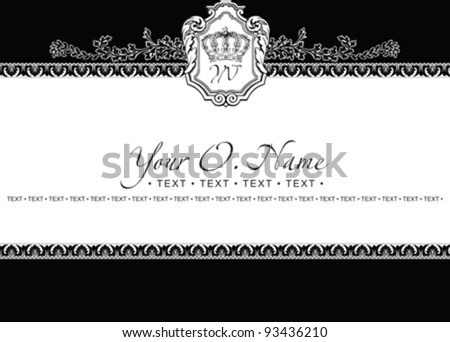 Vector Small Title Frame and Pattern - stock vector