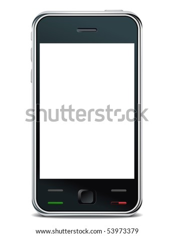 vector smart phone - stock vector