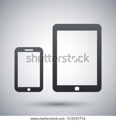 Vector smart phone and tablet icon - stock vector