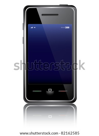 Vector smart phone isolated on the white background - stock vector