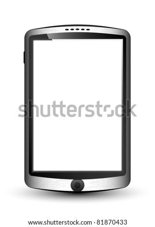 Vector Smartphone in original design with blank white screen - stock vector