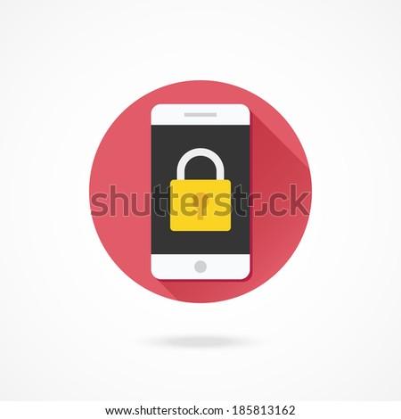 Vector Smartphone Lock Screen Icon - stock vector