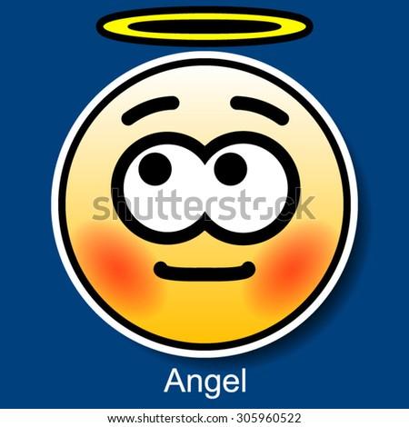 Vector Smiley Angel - stock vector