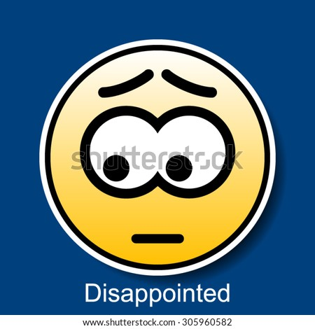 disappointment stock vectors amp vector clip art shutterstock