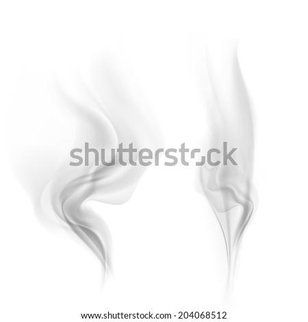 vector smoke - stock vector