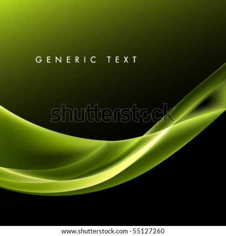 Vector Smooth Wave Design - stock vector