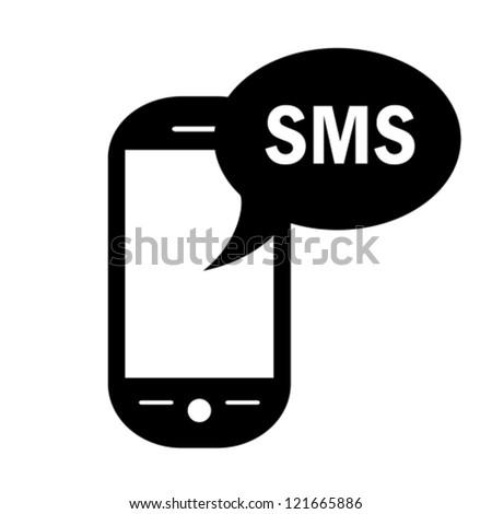 Vector sms symbol - stock vector
