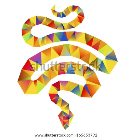 Vector - snake abstract isolated on a white backgrounds - stock vector