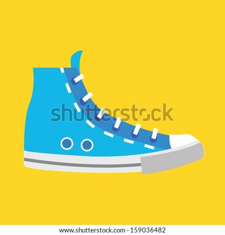 Vector Sneaker Icon - stock vector