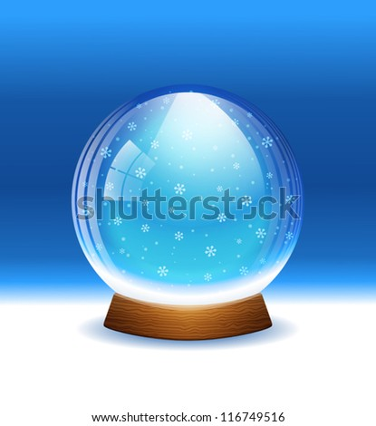 Vector snow globe. Layered. - stock vector