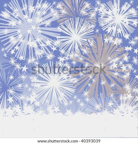 Vector Snowfall Or Fireworks - stock vector