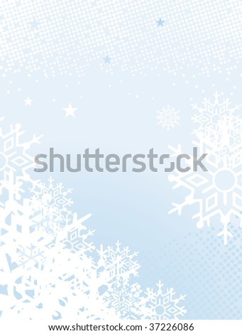 vector snowflake background, ideal for text - stock vector