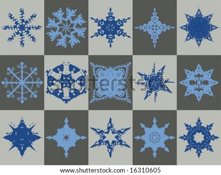 Vector Snowflake Collection - stock vector