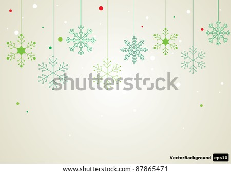 Vector snowflake set. Eps 10 - stock vector