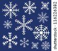 Vector snowflakes set - stock vector