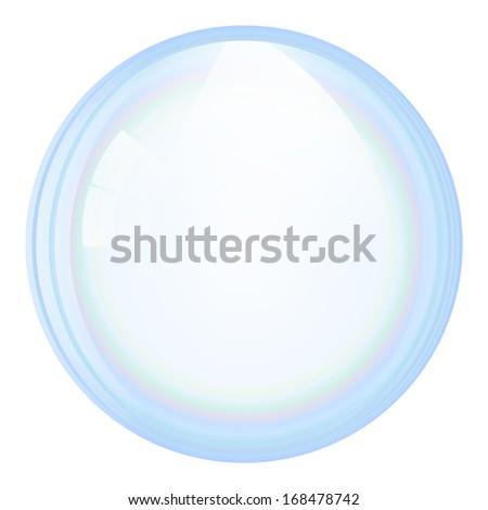Vector soap bubble - stock vector