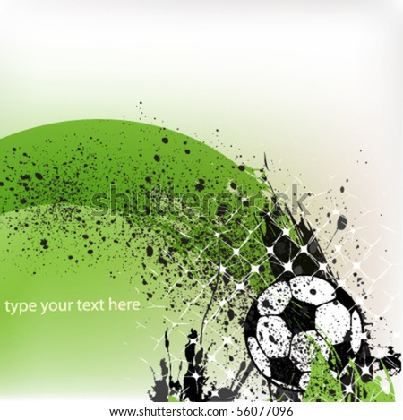 vector soccer background - stock vector
