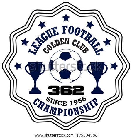 Vector soccer badge / Vector soccer labels / Soccer emblems / Football badge / Vector Soccer / T-shirt Printing / Badge Applique Label - stock vector