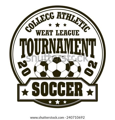 Vector soccer badge / Vector soccer labels / Soccer emblems / Vector Soccer ( T-shirt Printing Design )  - stock vector