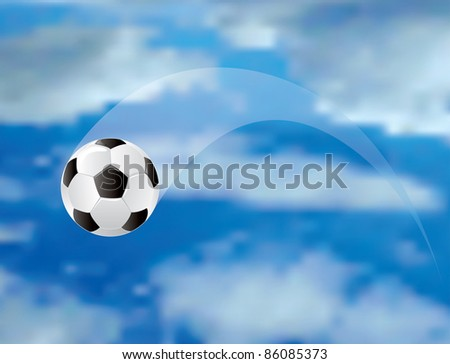 vector soccer ball in air - stock vector
