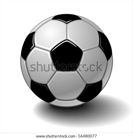 Vector soccer ball isolated on white - stock vector