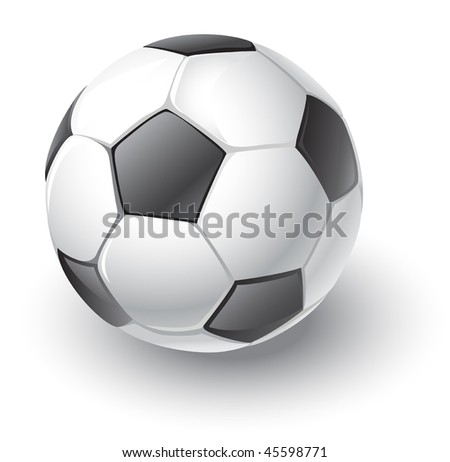 vector soccer ball (only gradients) - stock vector