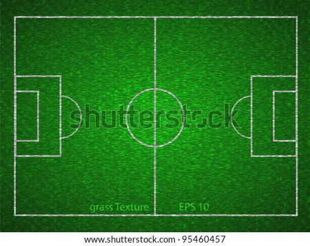 Vector soccer field - stock vector