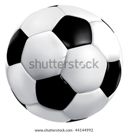 Vector soccer game ball isolated on white background - stock vector