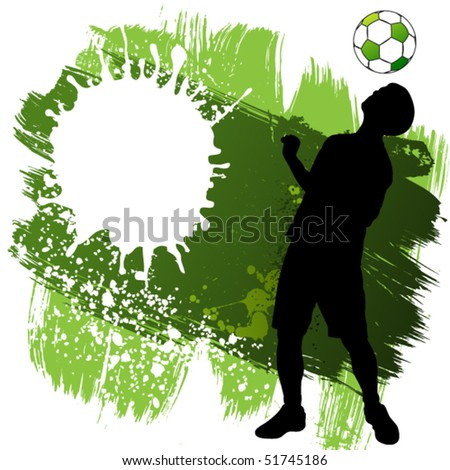 vector soccer player