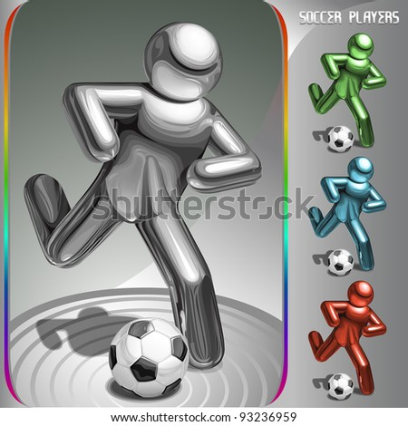 vector soccer player - stock vector