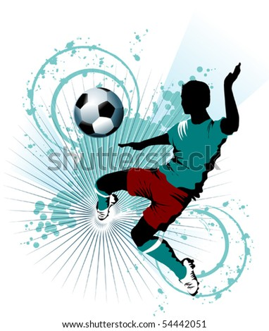 Vector Soccer player design / Football Background / Vector sport design;