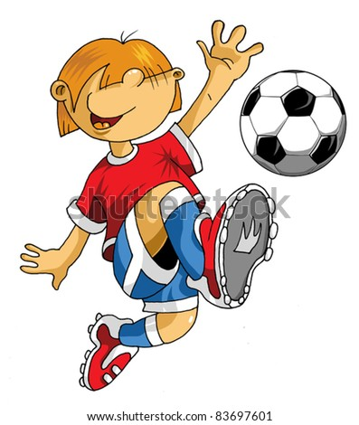 Vector Soccer player design / Football Background / Vector sport design; - stock vector