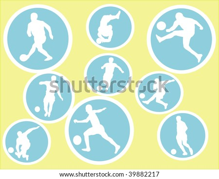 Vector Soccer Players - stock vector