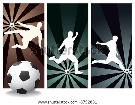 Vector Soccer Players. Easy Change Colors. - stock vector