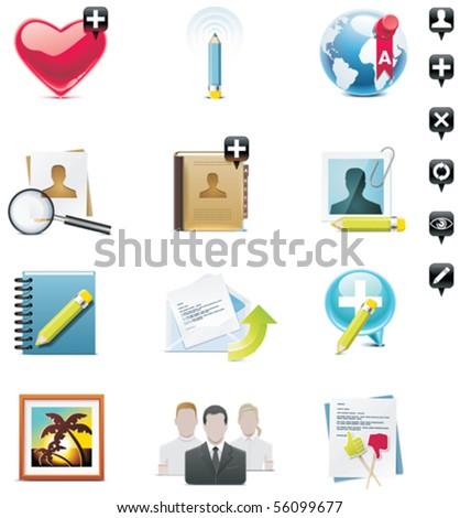 Vector social media icon set. Part 1 - stock vector