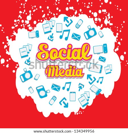 Vector Social media icon with speech bubbles. social media marketing abstract concept. vector network background.
