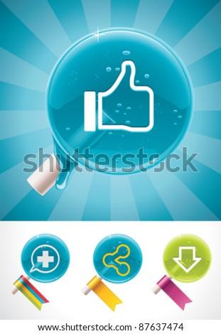 Vector social media lollipops - stock vector